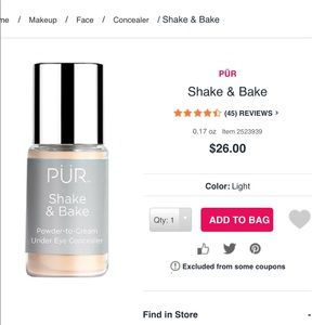 Pur shake and bake Concealer